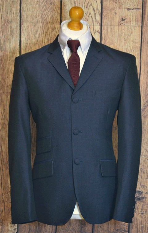 """Pasquale"" 100% Wool Navy  3 Button Suit"